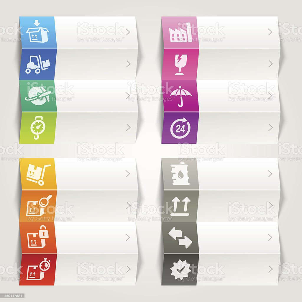 Rainbow - Logistic and Shipping icons / Navigation template royalty-free stock vector art