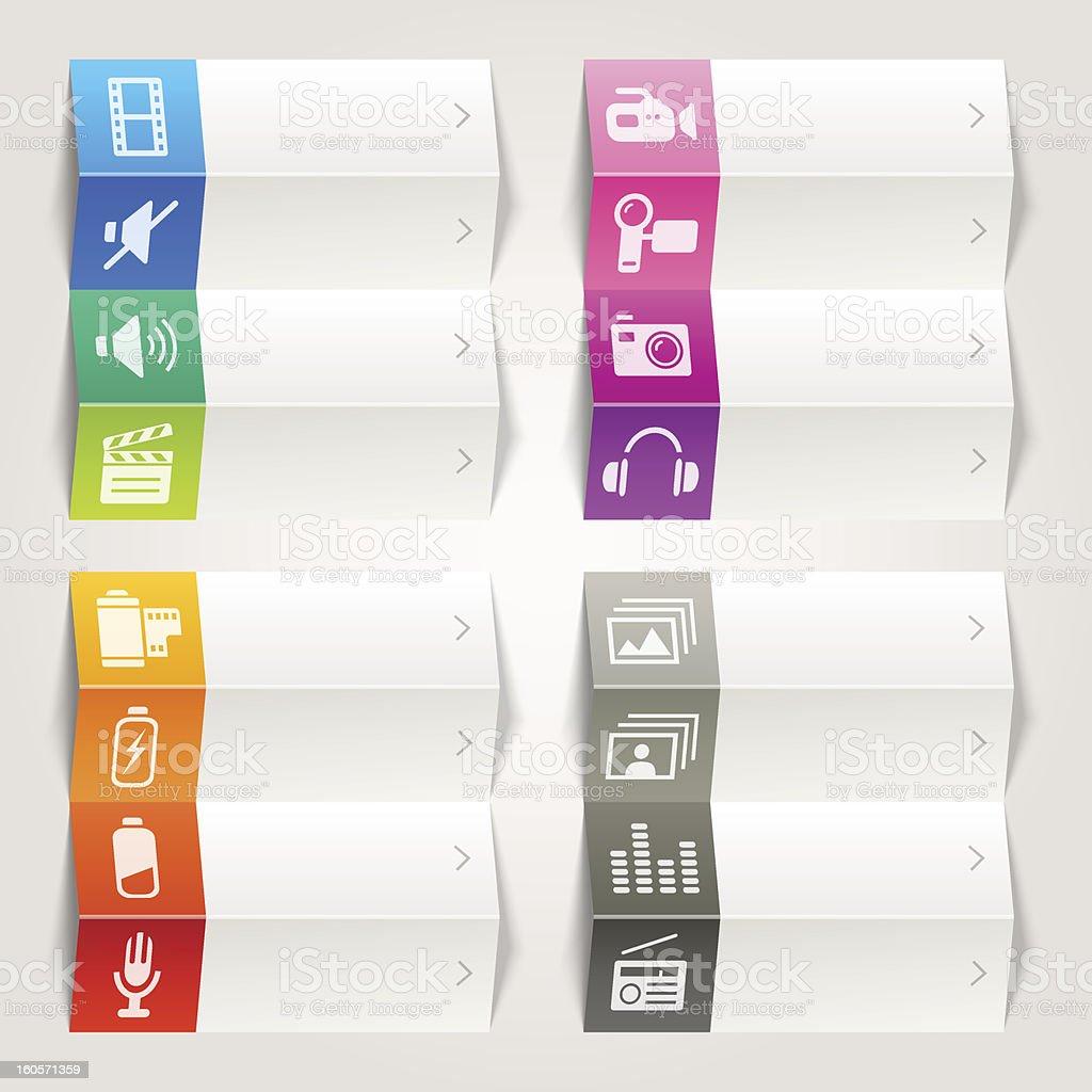 Rainbow - Media icons / Navigation template royalty-free stock vector art