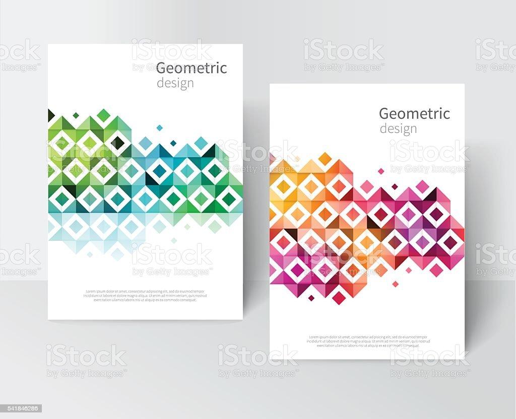 rainbow Modern Geometric Abstract background vector art illustration