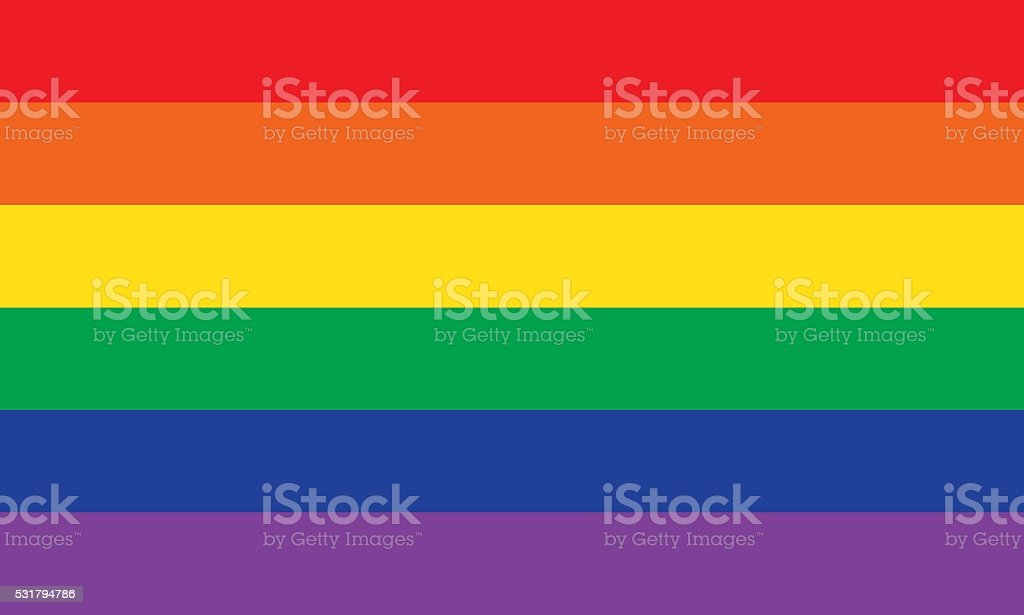 Rainbow or Pride Flag vector art illustration