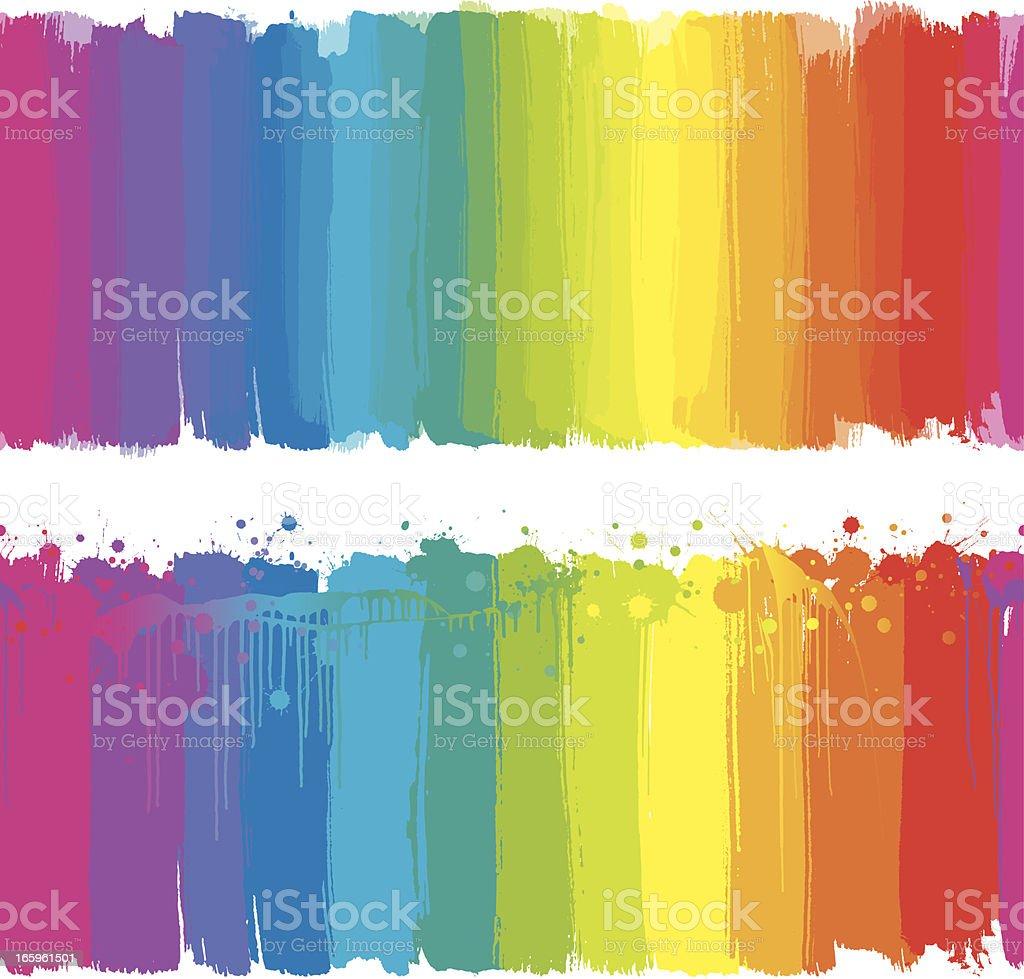 Rainbow paint strokes vector art illustration
