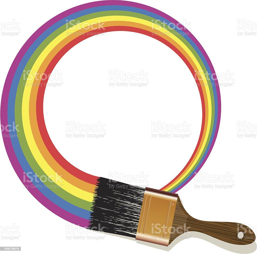 Rainbow Paintbrush royalty-free stock vector art