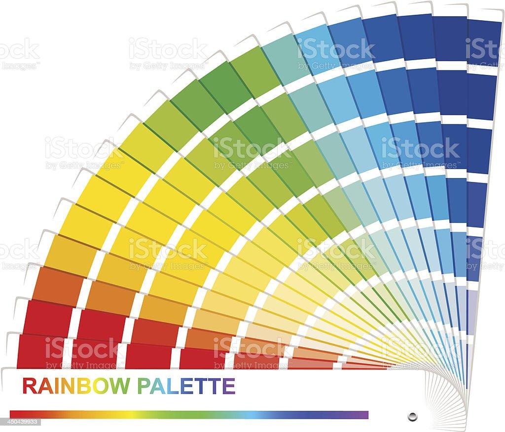 Rainbow palette. royalty-free stock vector art