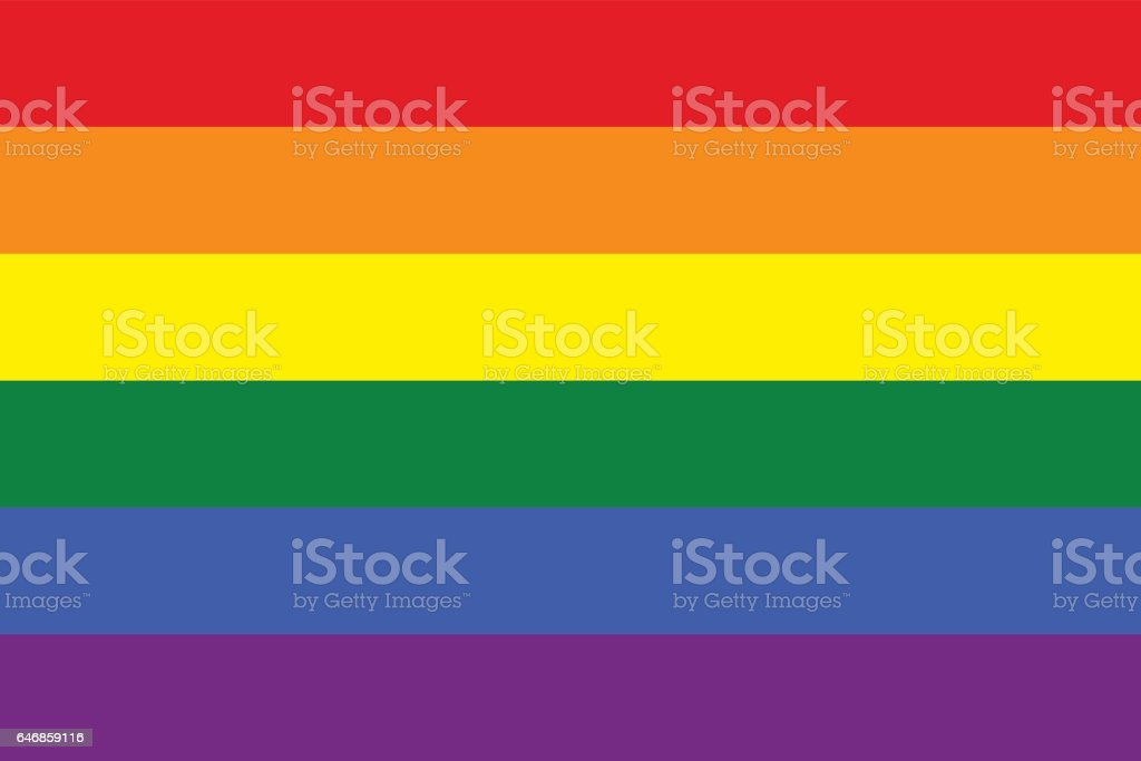Rainbow Pride Flag LGBT Movement vector art illustration
