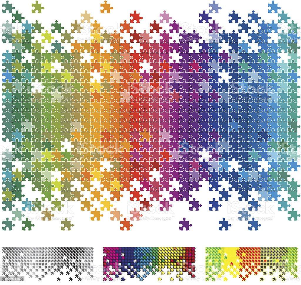 Rainbow Puzzle vector art illustration