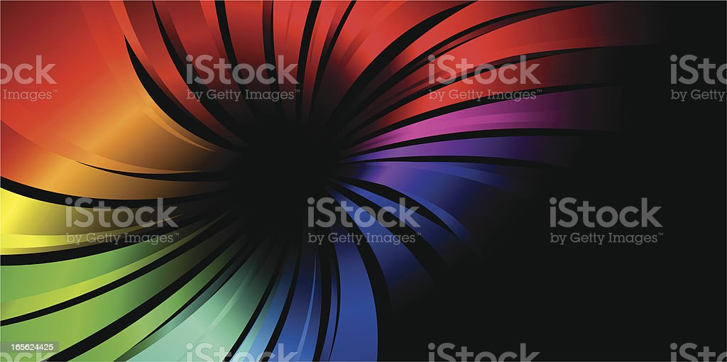 Rainbow Radial Lines royalty-free stock vector art