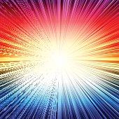 Rainbow radial stripes burst explosion background