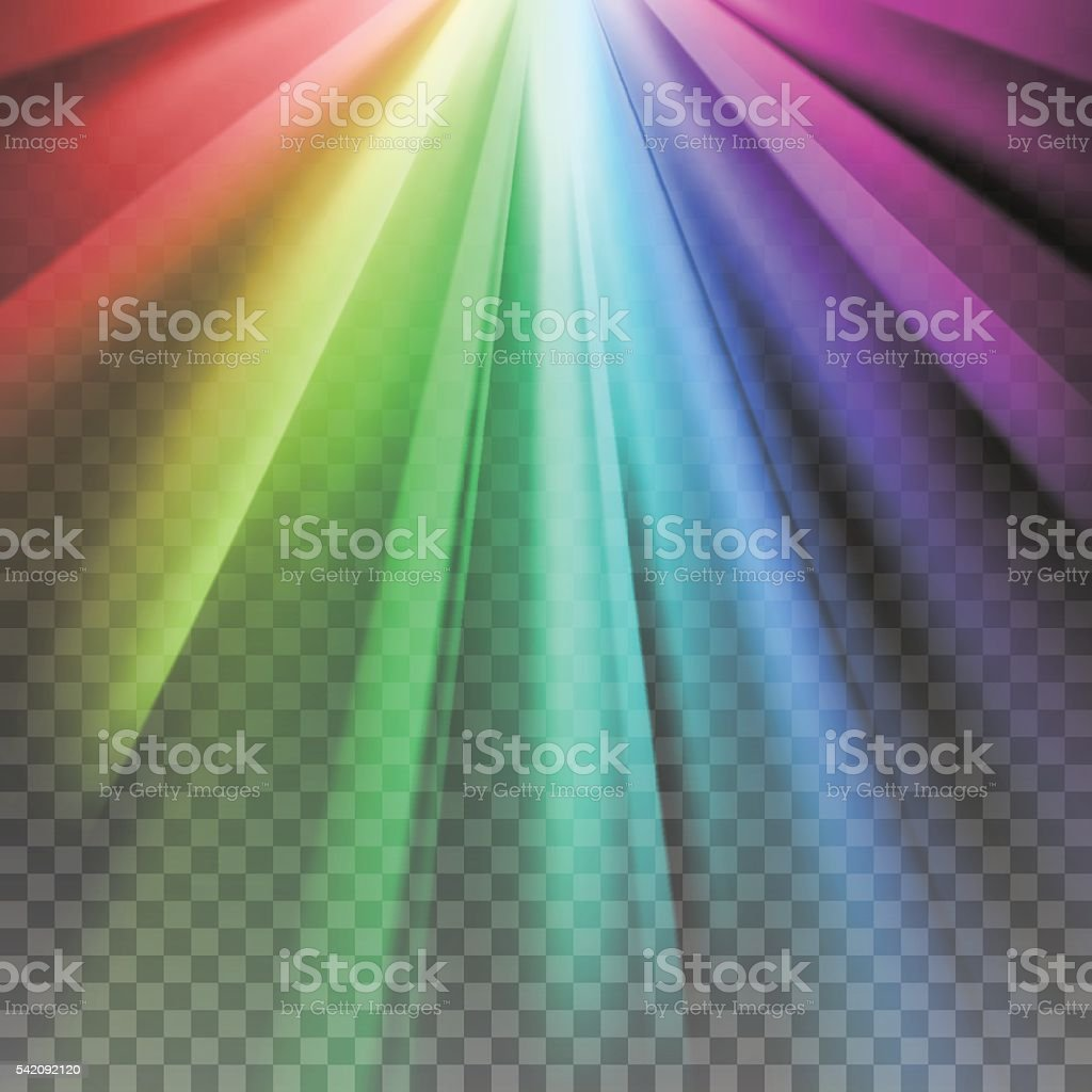 Rainbow rays element vector art illustration