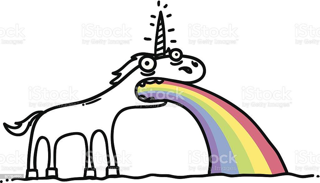Rainbow Rider vector art illustration