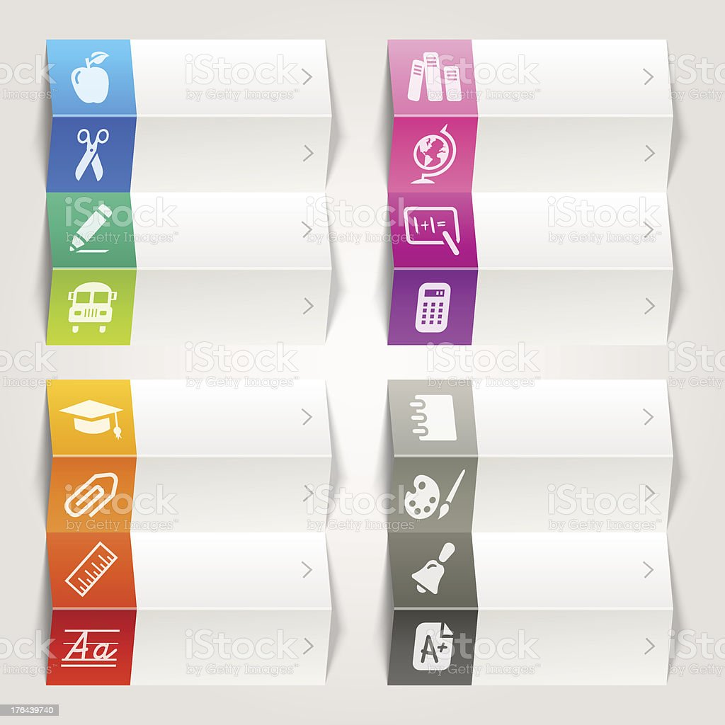 Rainbow - School and University Icons / Navigation Template royalty-free stock vector art