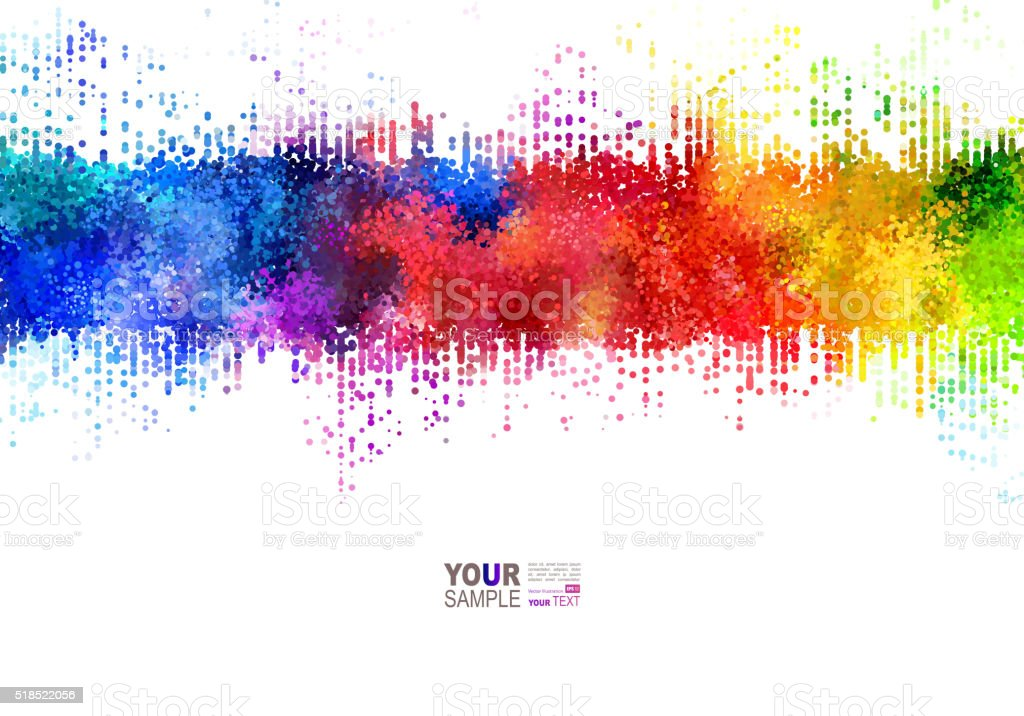 Rainbow stains. vector art illustration