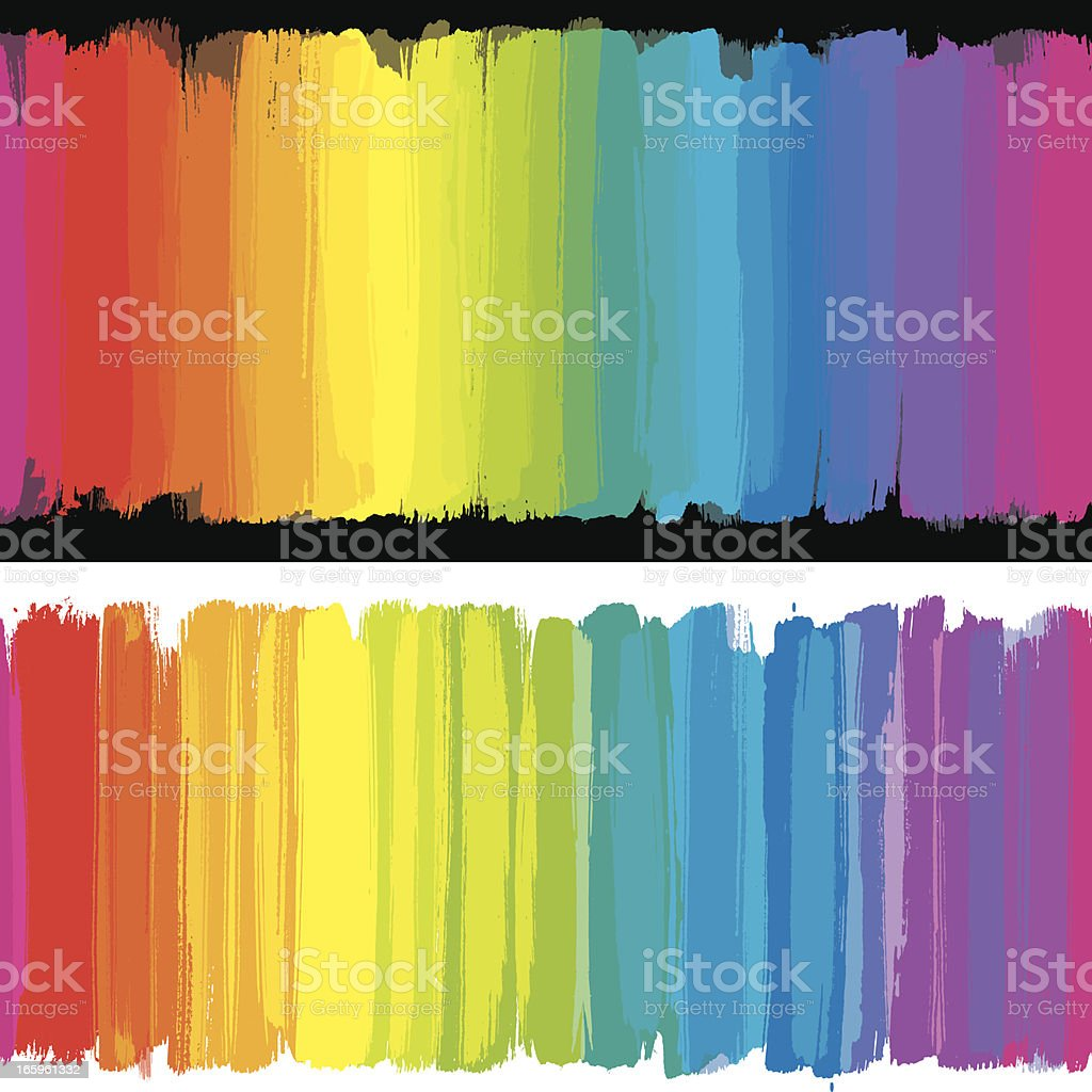 Rainbow strokes backgrounds royalty-free stock vector art