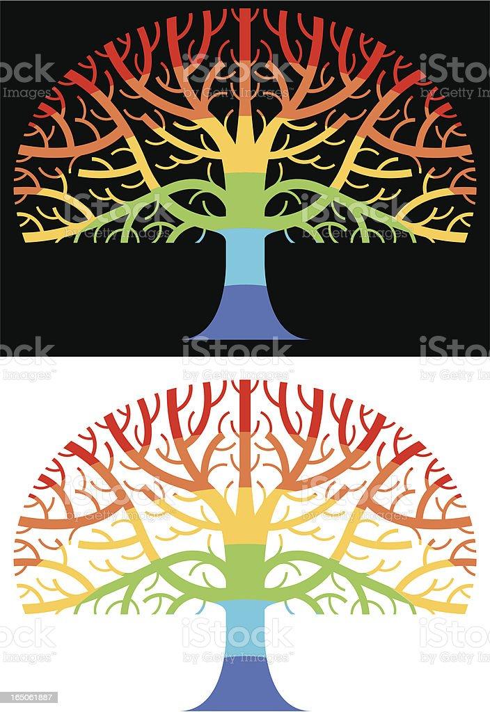 Rainbow tree royalty-free stock vector art
