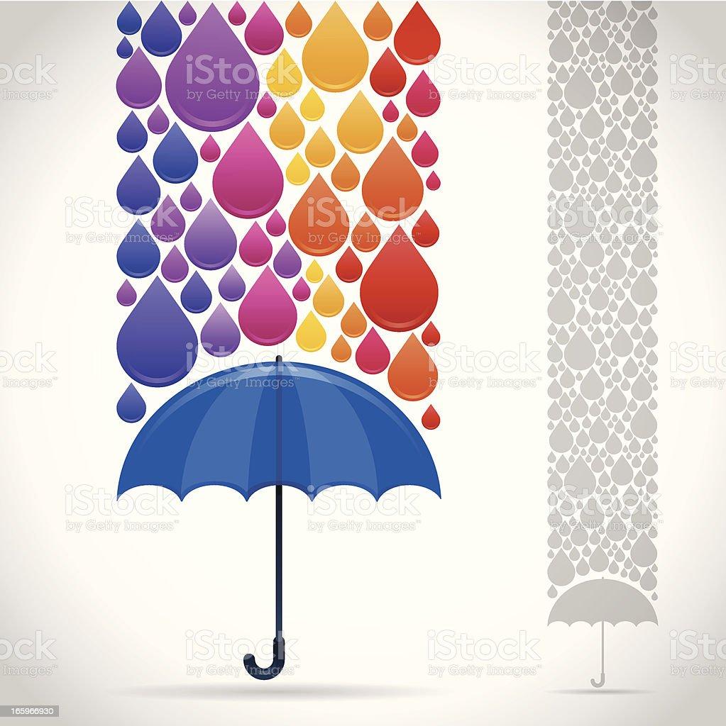 Rainbow Umbrella royalty-free stock vector art
