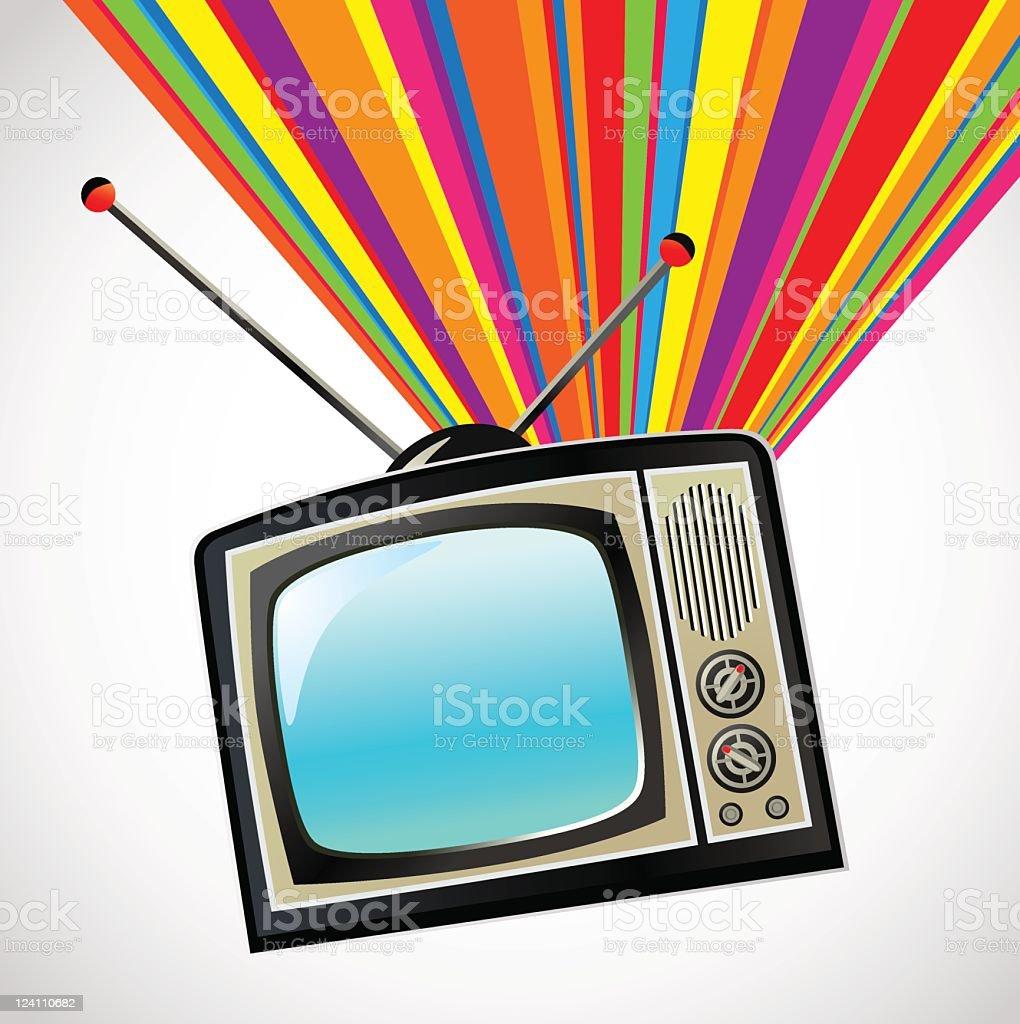 TV rainbow vector art illustration