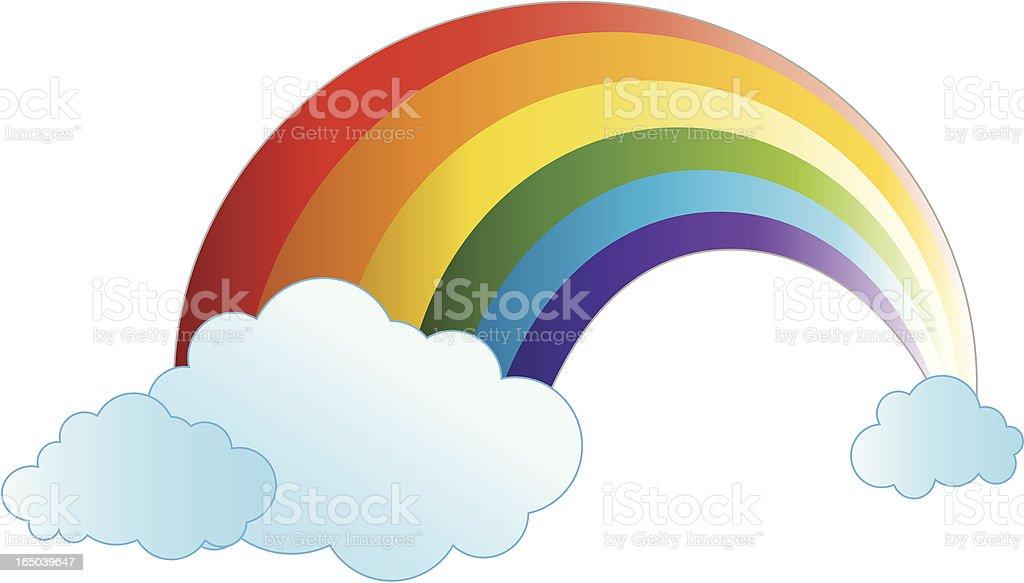 rainbow vector art illustration