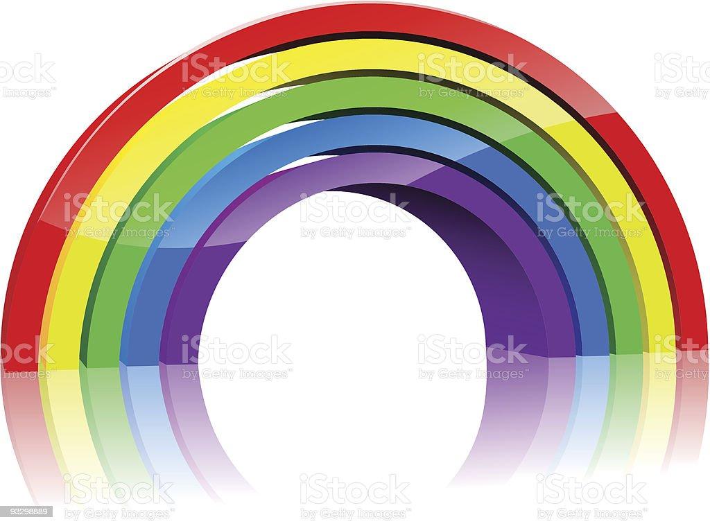 3D rainbow vector art illustration