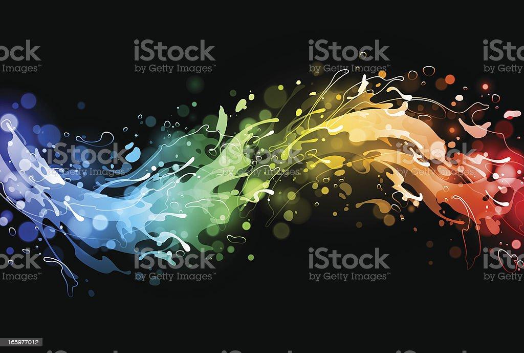 Rainbow water splash royalty-free stock vector art