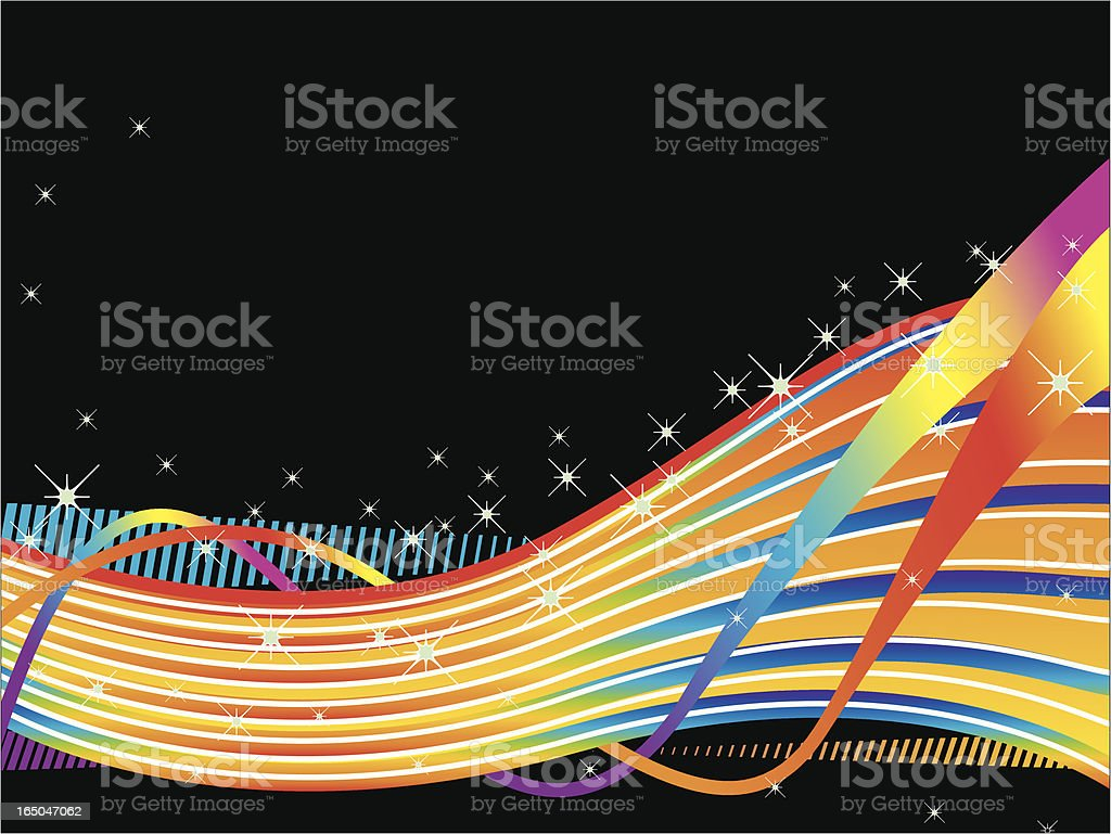 Rainbow Wave royalty-free stock vector art
