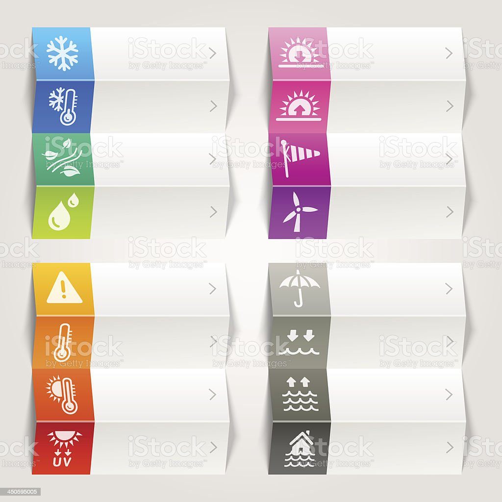 Rainbow -  Weather and Meteorology Icons / Navigation template royalty-free stock vector art