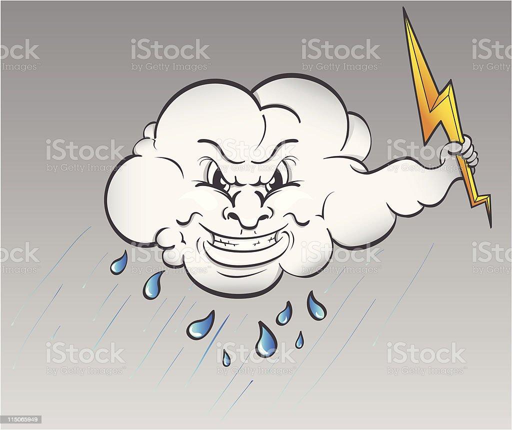 Raining Cloud vector art illustration