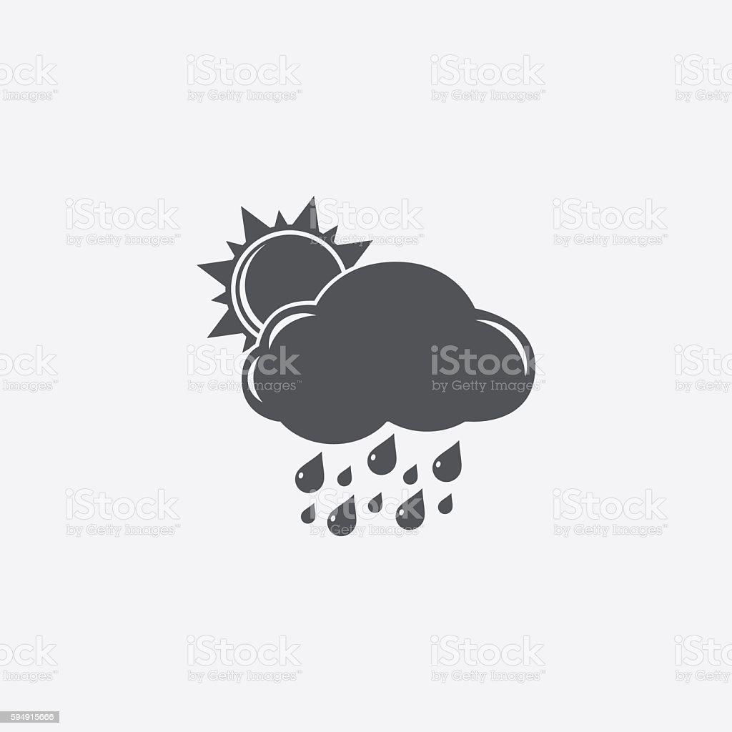 Rainy day icon vector art illustration