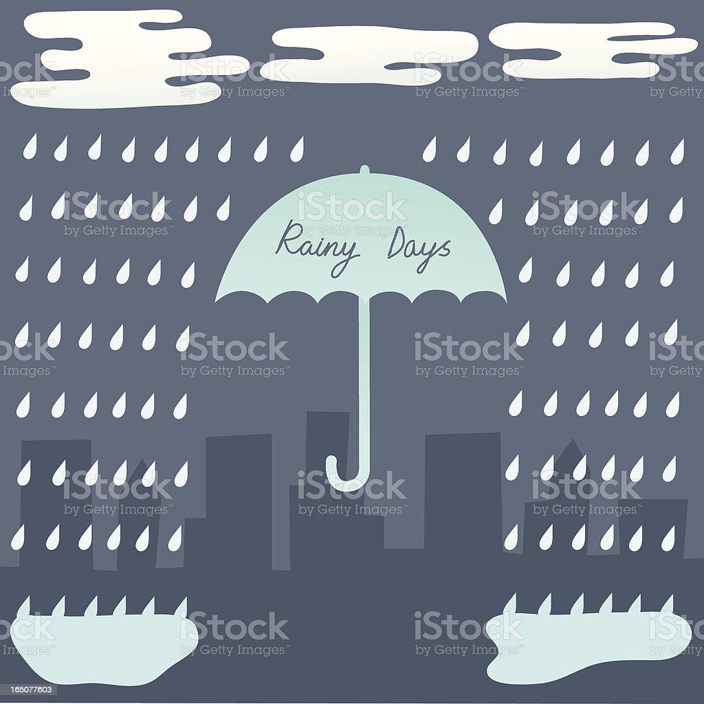 Rainy Days royalty-free stock vector art