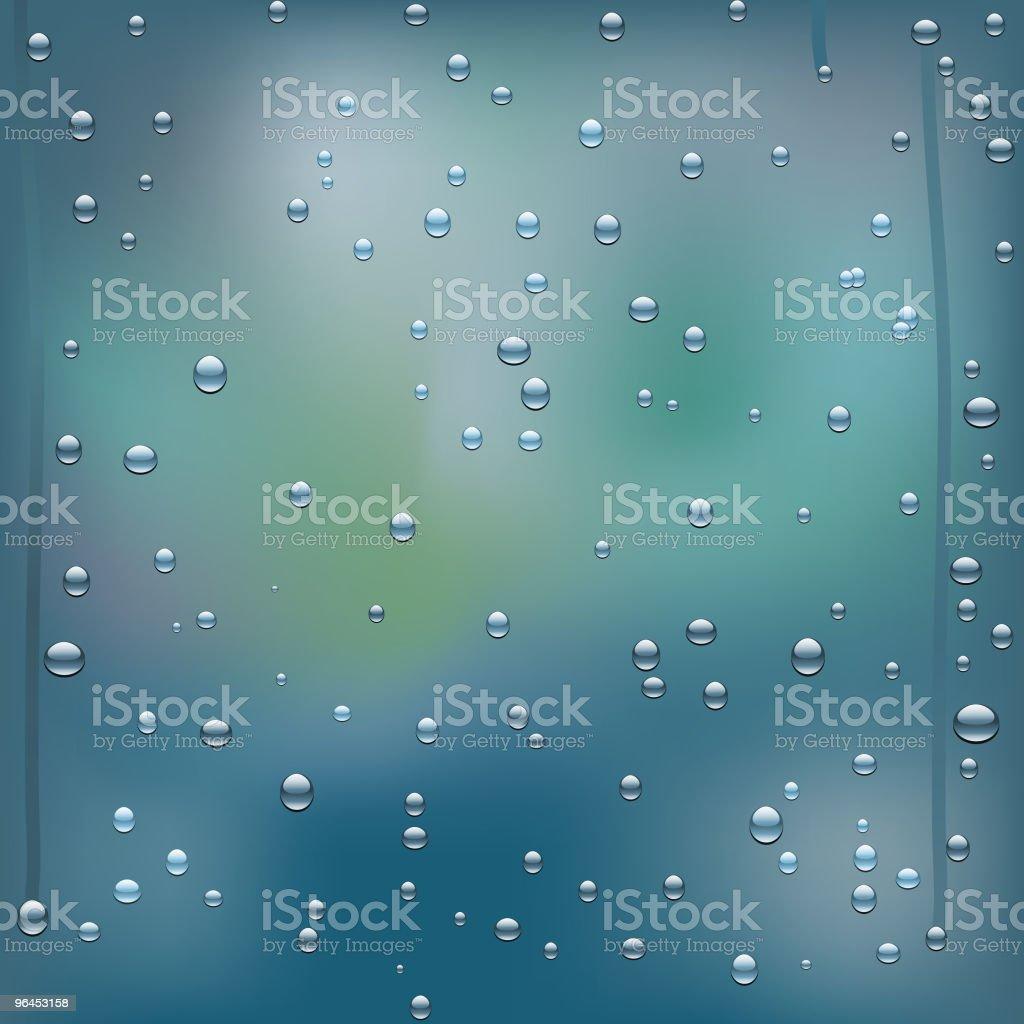 rainy window royalty-free stock vector art