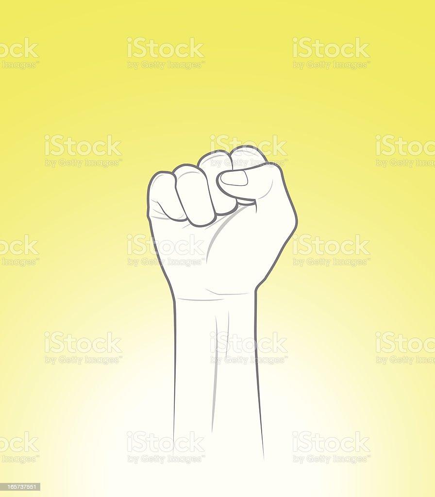 Raised Fist vector art illustration