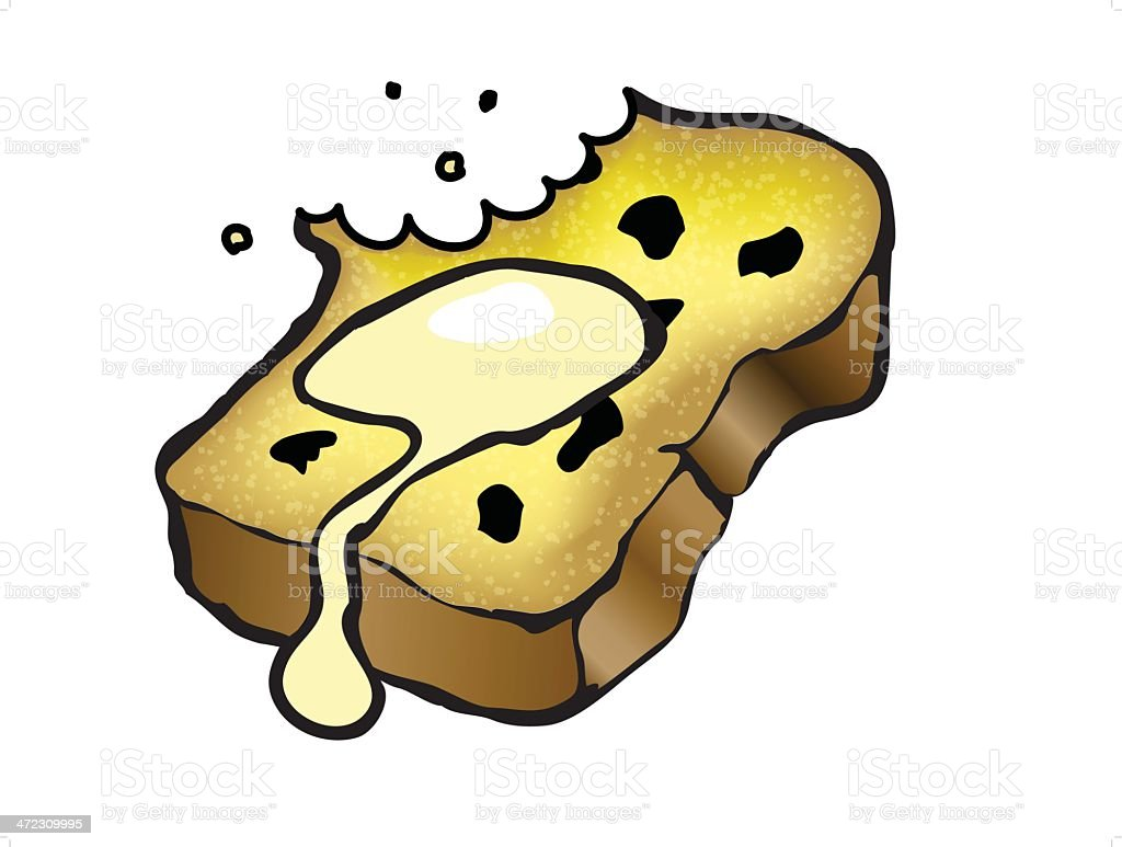 Raisin Toast vector art illustration