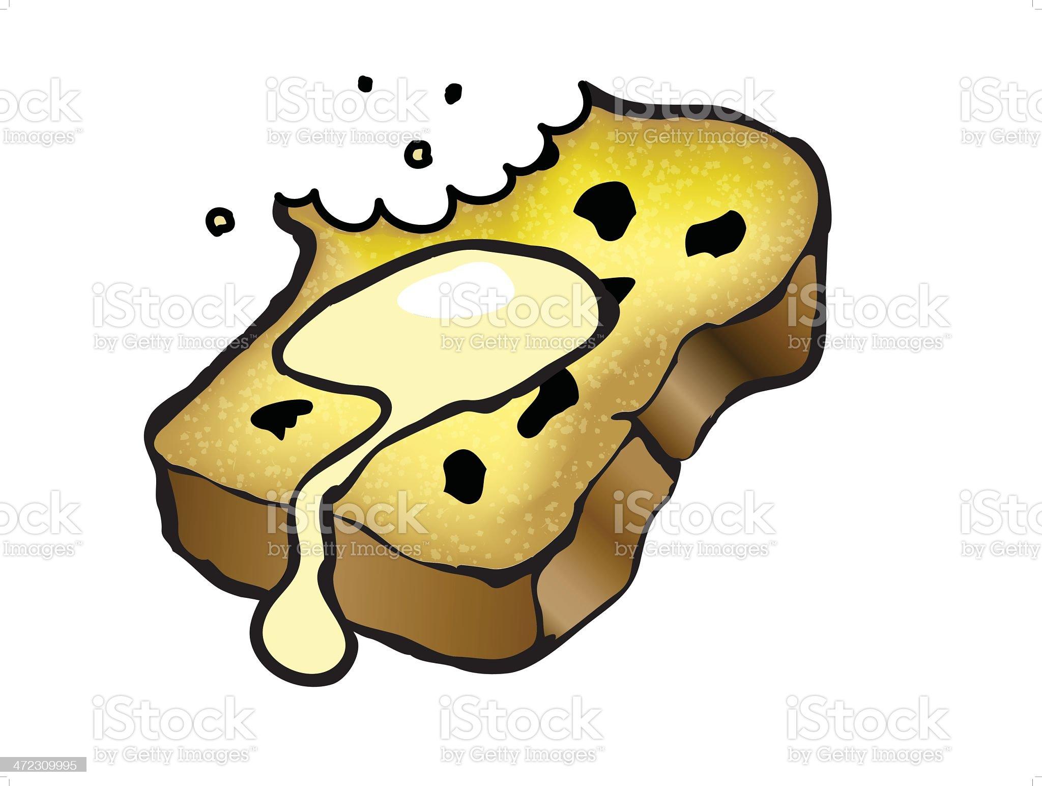 Raisin Toast royalty-free stock vector art