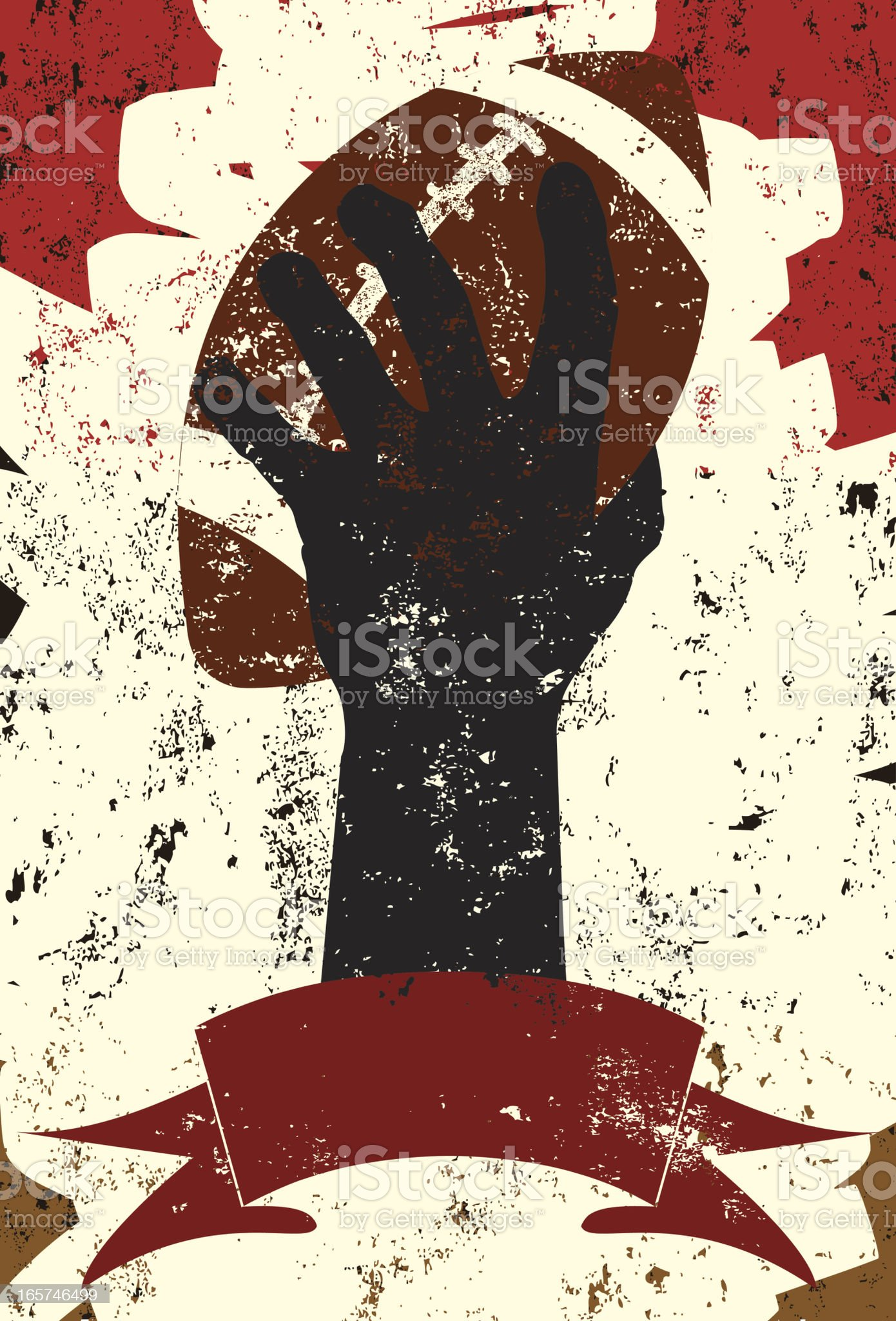 raising football royalty-free stock vector art