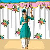Rajasthani Puppet doing Kashmiri folk dance of  India