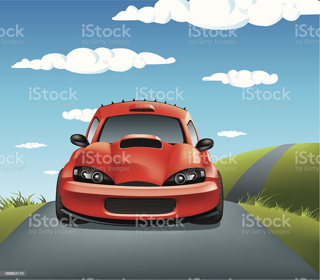 Rally car in action royalty-free stock vector art