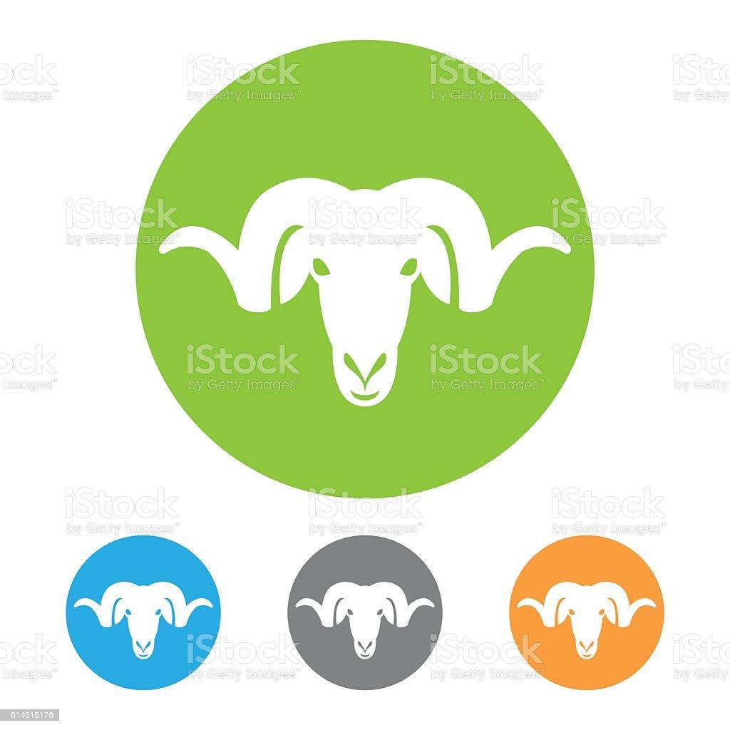 Ram head icon vector art illustration