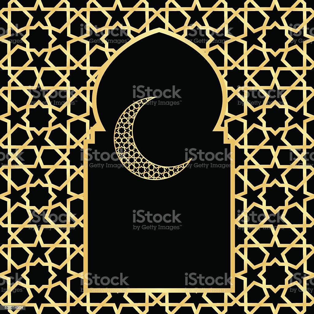 ramadan greeting card vector art illustration