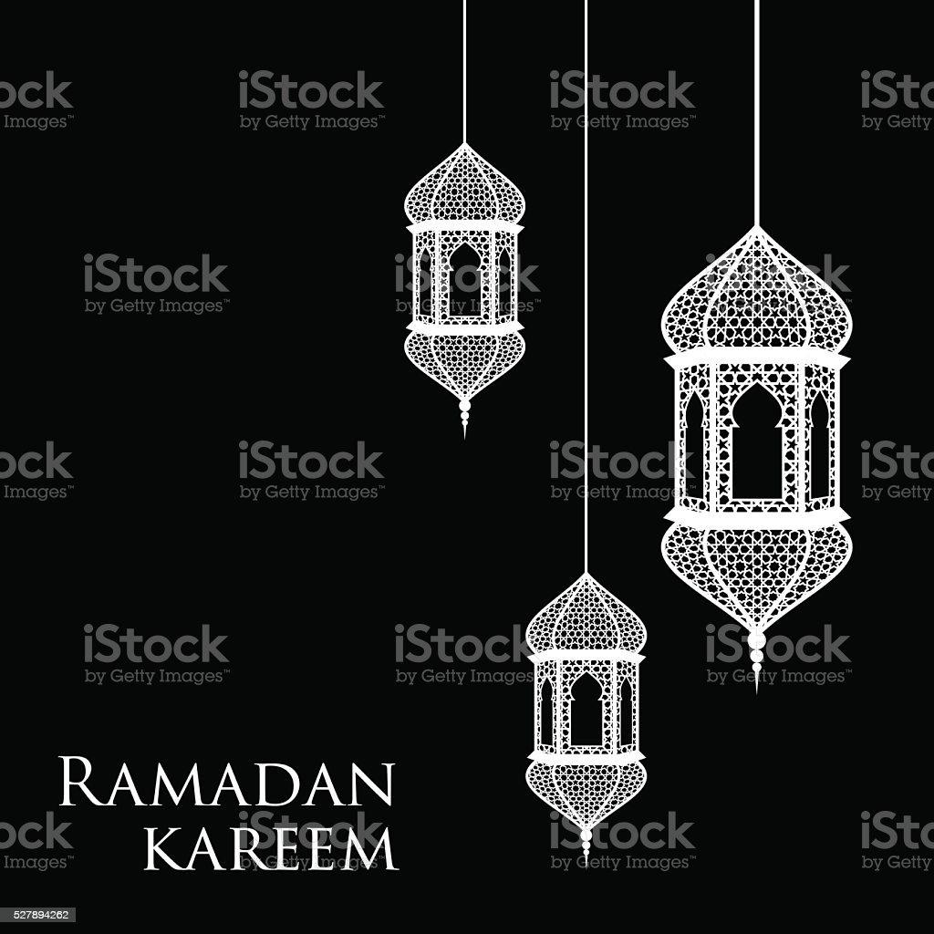 Рамадан поздравительных открыток Сток Вектор Стоковая фотография
