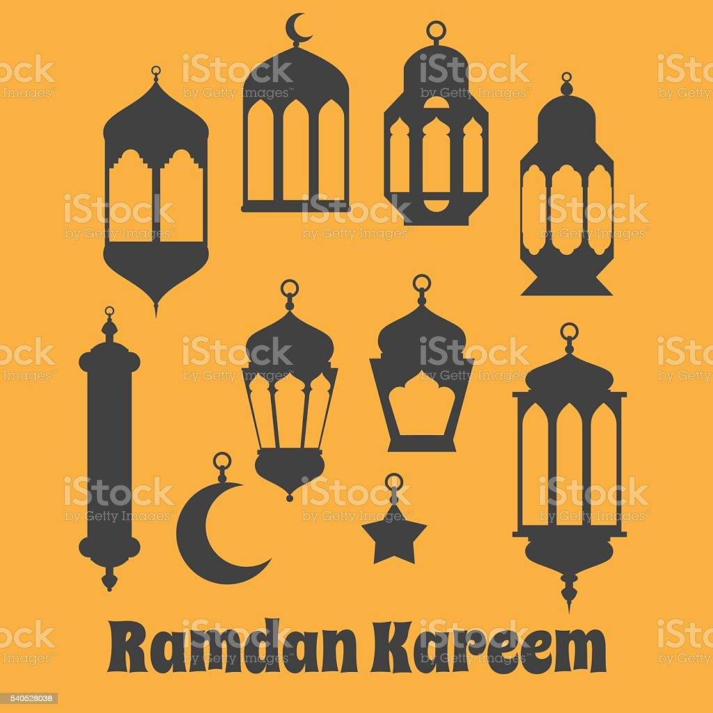 Ramadan Kareem - Islamic Holy Nights, Theme Design background, R vector art illustration