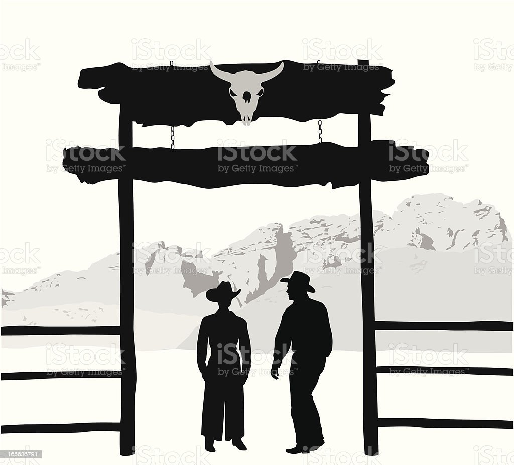 Ranchers vector art illustration