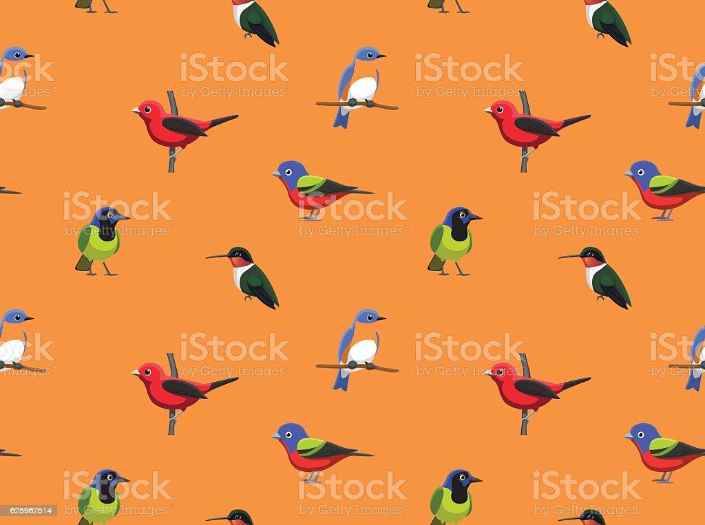 Random American Birds Wallpaper 2 vector art illustration