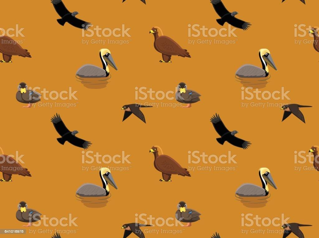 Random American Birds Wallpaper 4 vector art illustration