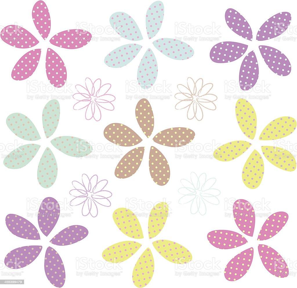 Random Flowers royalty-free stock vector art