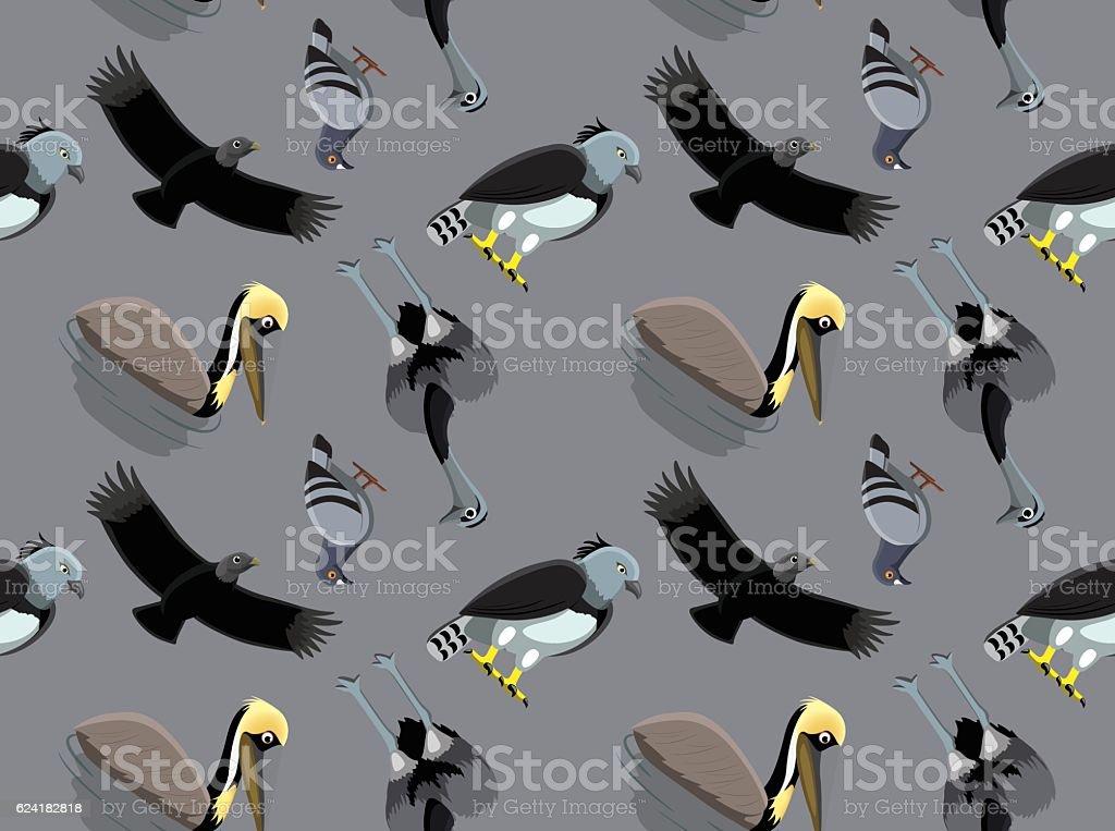 Random South American Birds Wallpaper 1 vector art illustration