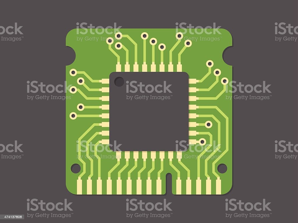 Random-access memory vector art illustration