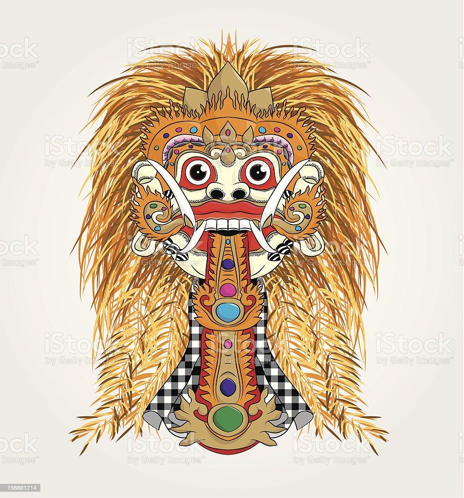 Rangda Bali vector art illustration