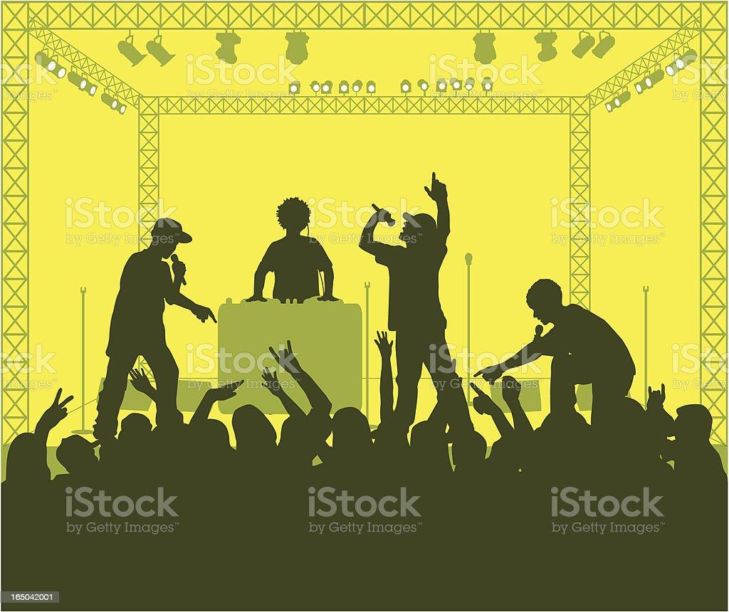 Rap Concert ( Vector ) royalty-free stock vector art