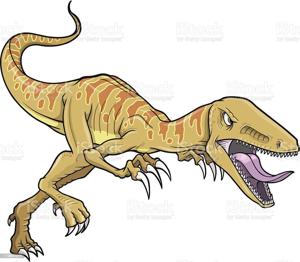 Raptor Dinosaur vector art illustration