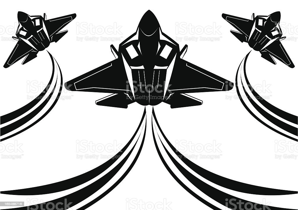 F22 raptor II vector art illustration