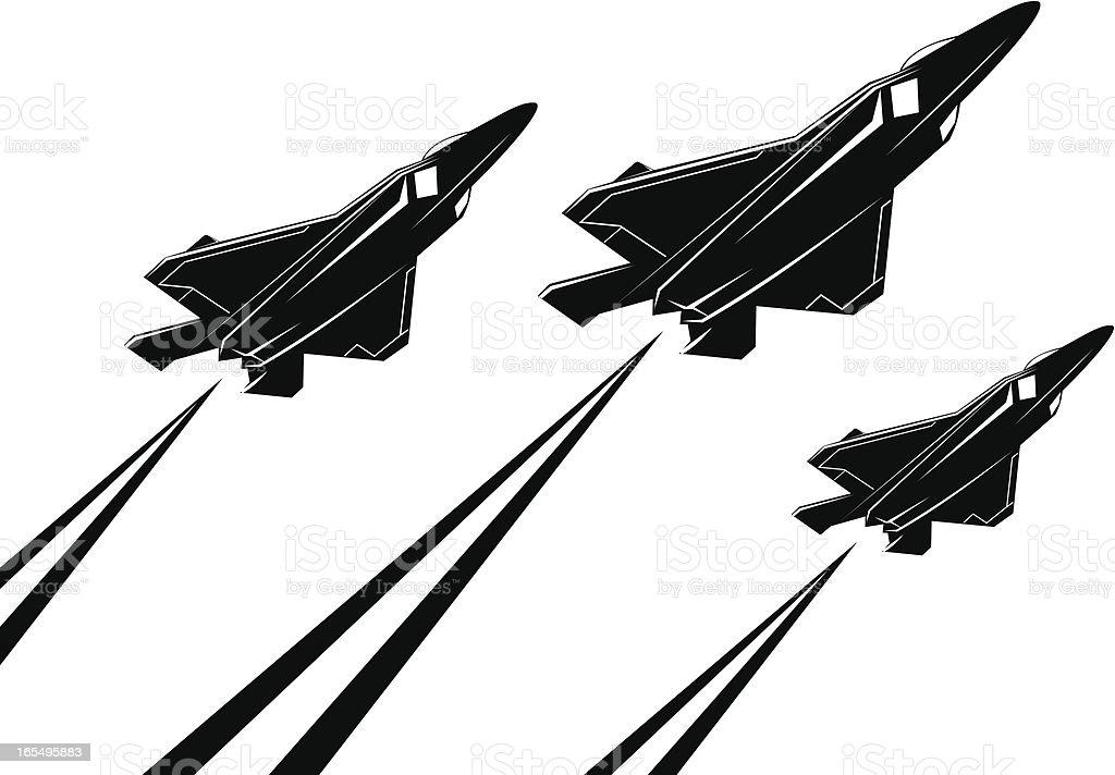 F22 raptor V royalty-free stock vector art