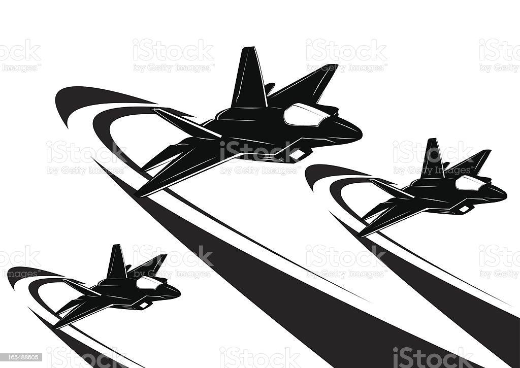 F22 raptor royalty-free stock vector art
